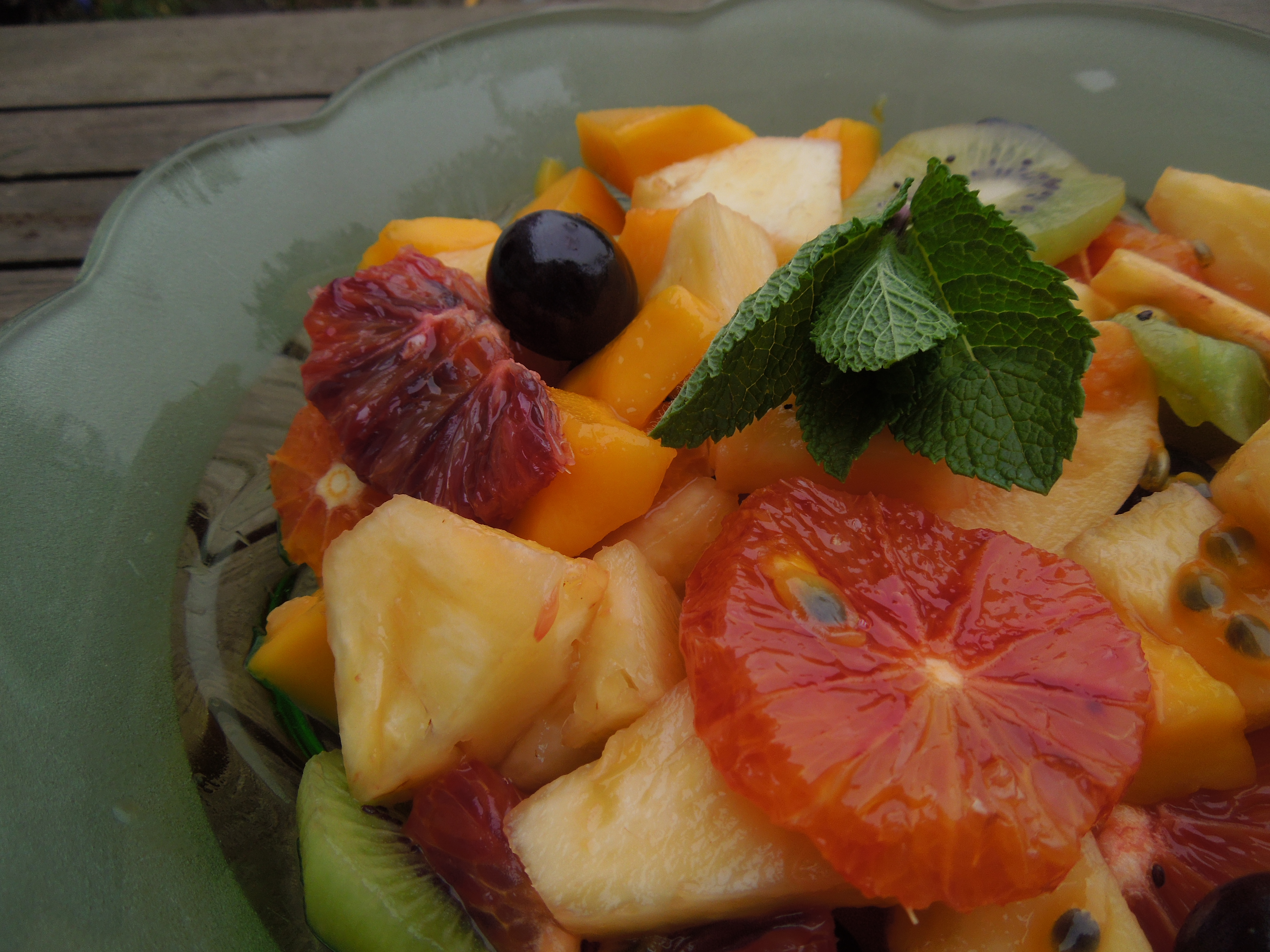Exotic Fruit Salad With a Mint and Ginger Syrup | Mrs ...