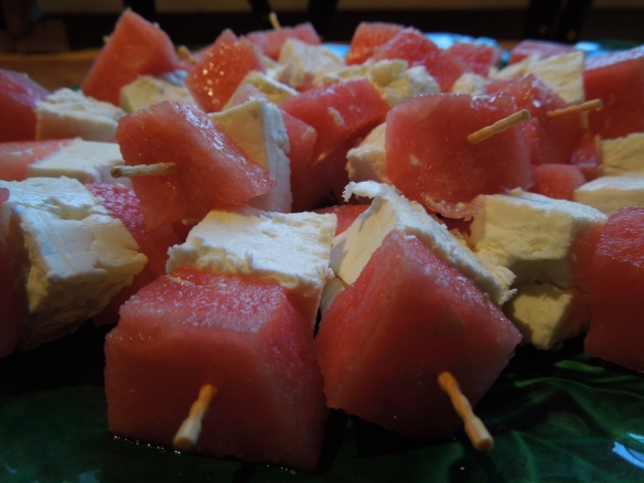 Image of feta and watermelon