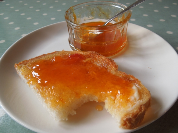 Image of toast spread with apricot conserve