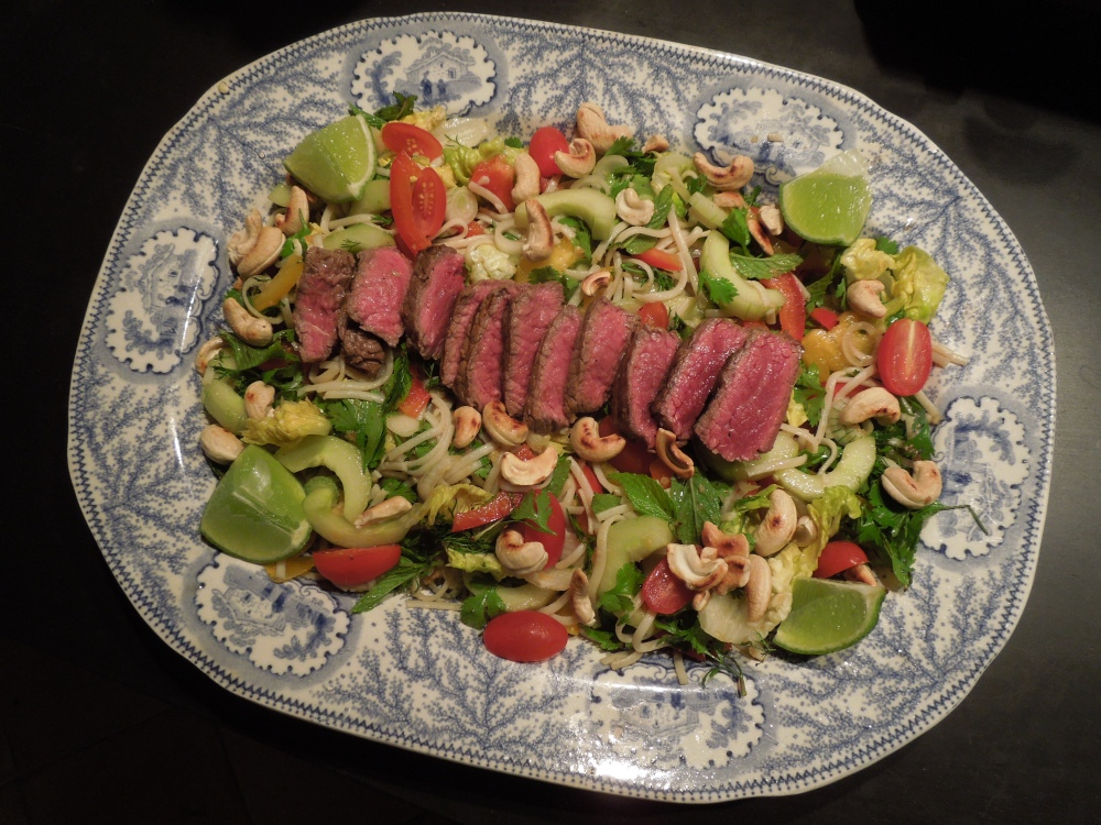 Image of salad served on a platter