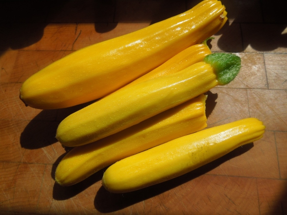 Image of yellow courgettes