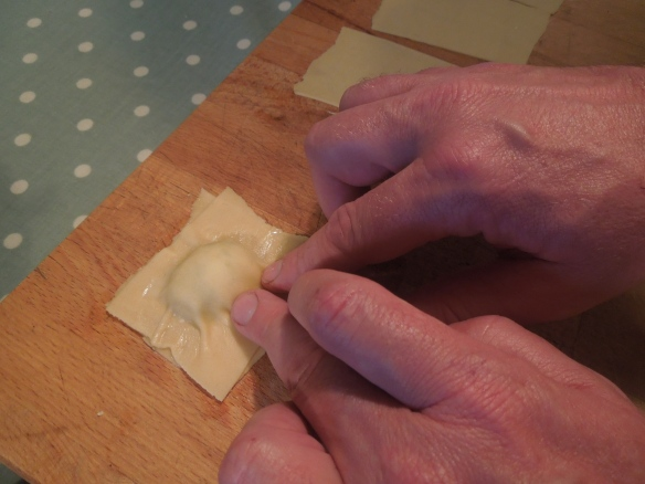 image of James making the ravioli