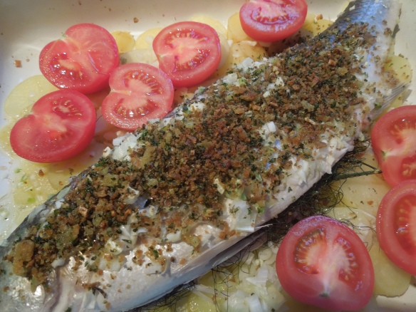 Image of fish ready for the oven