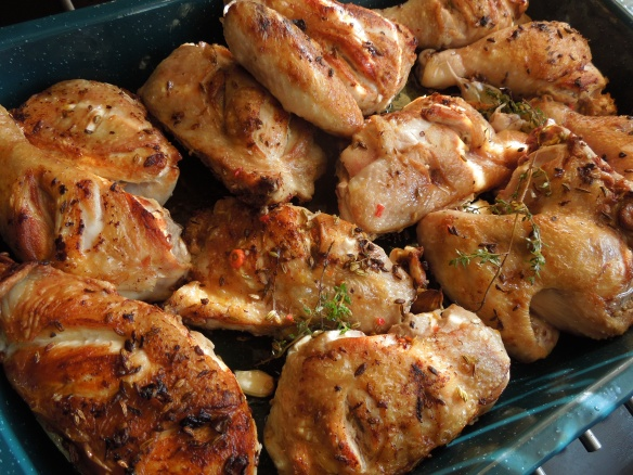 Image of fennel-roasted chicken