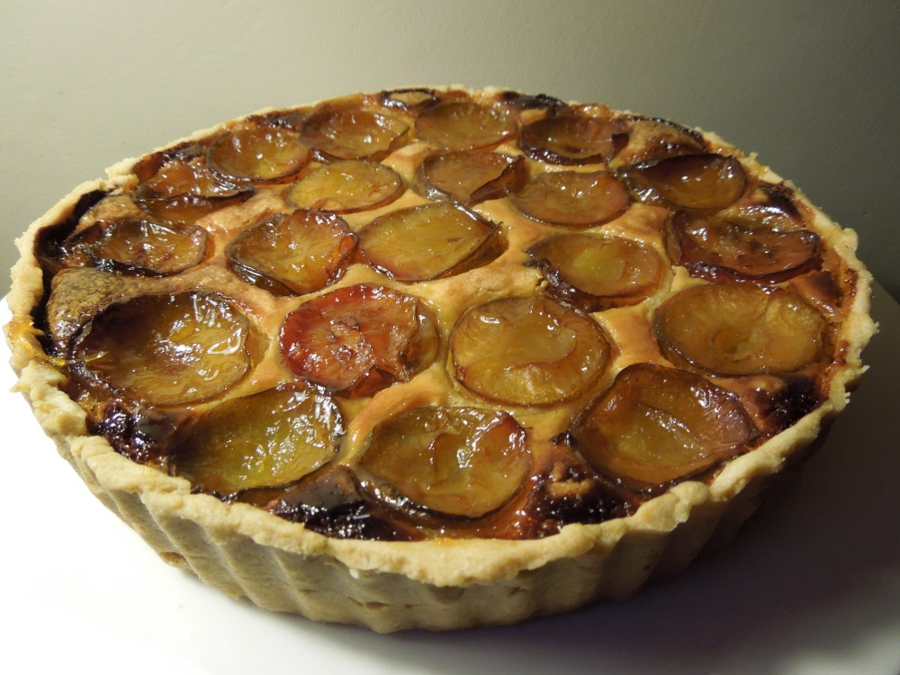Image of plum frangipane tart