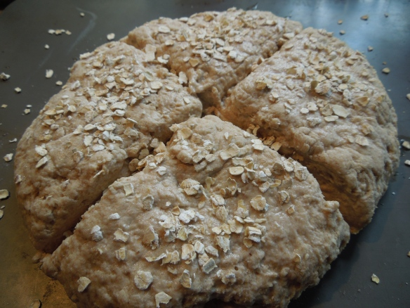 Image of soda bread ready for the oven
