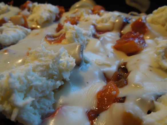 Image of layer with mozzarella