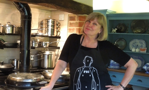 Image of Mrs Portly in her kitchen