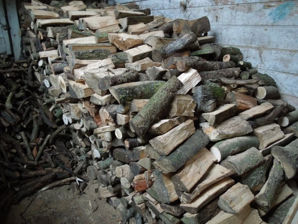 Image of a full woodshed