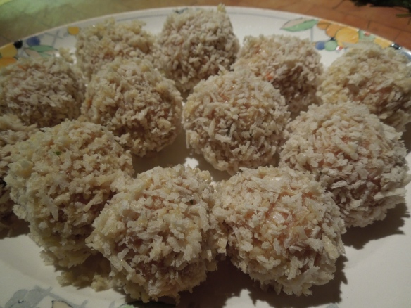 Image of Scotch eggs egged and breadcrumbed