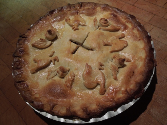 Image of chicken and leek pie