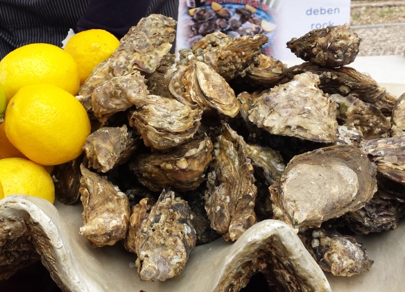 Image of oysters and lemons