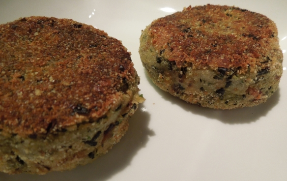 Image of potato cakes with kale and bacon