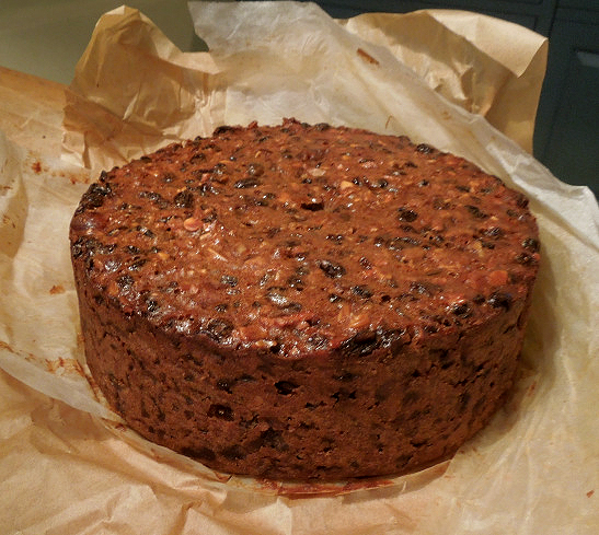 Image of cake after baking