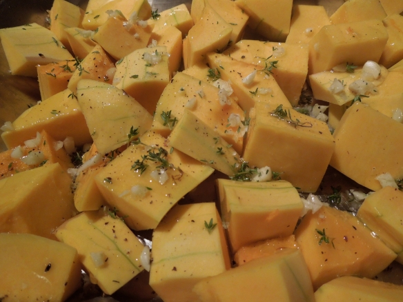 Image of squash ready for the oven