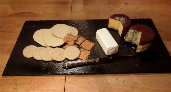 Image of slate roof tile as cheese board
