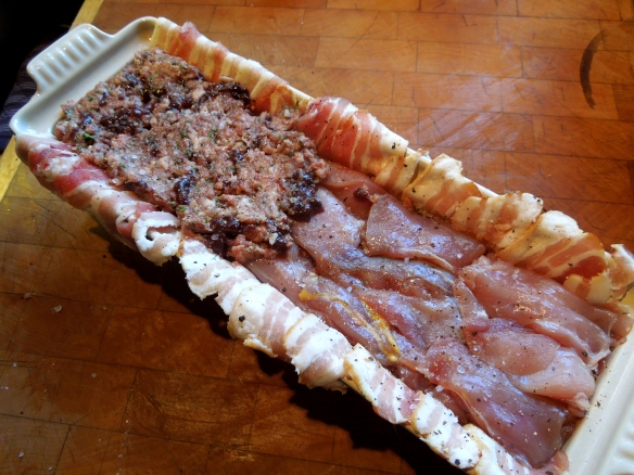Image of layers of forcemeat and game