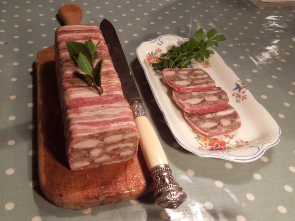 Image of terrine, sliced