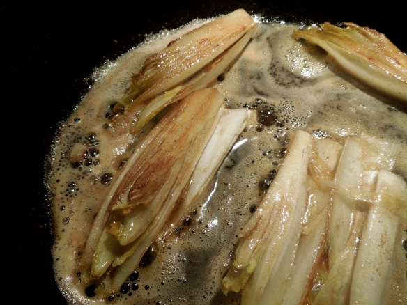 Image of chicory frying