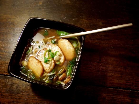 Image of a bowl of duck noodle soup