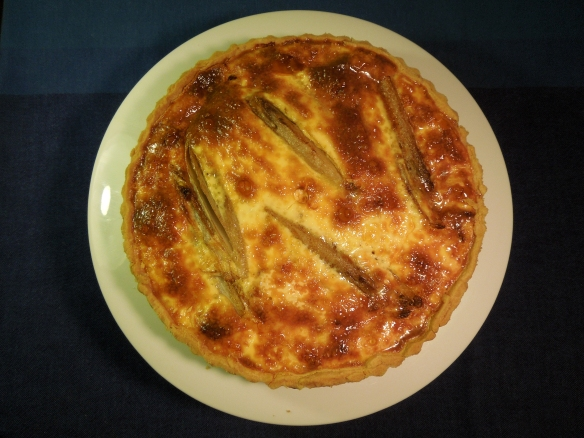 Image of cooked blue cheese and chicory tart