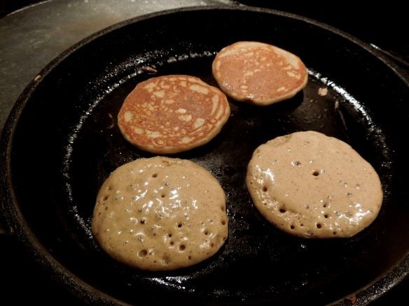 Image of blinis cooking