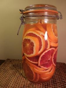 Image of blood orange gin underway