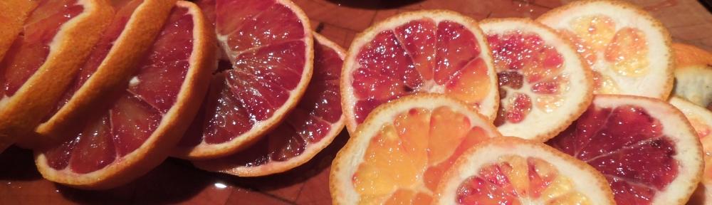 Image of sliced blood oranges