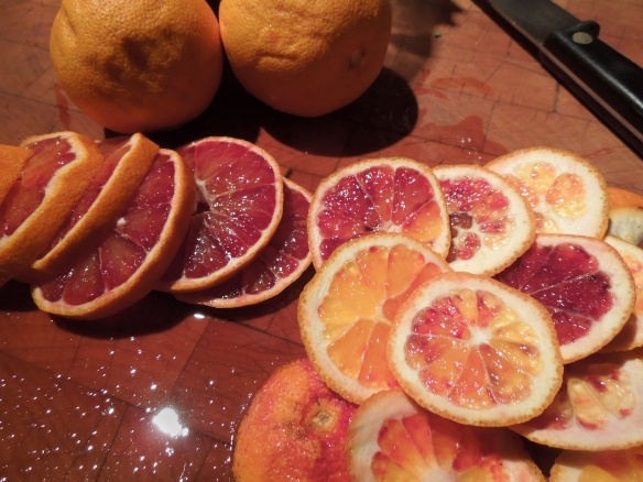 Image of sliced blood oranges