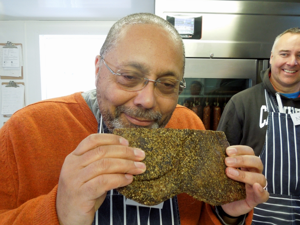 Image of Ron sniffing the biltong