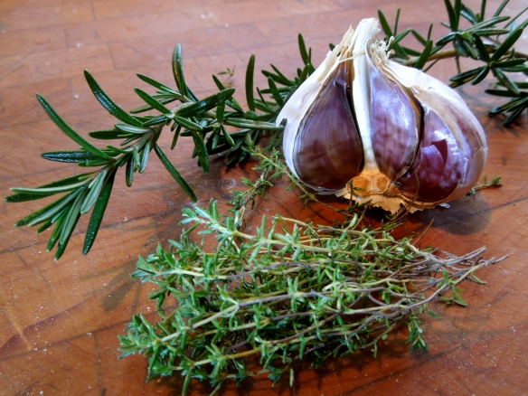 Image of herbs and garlic