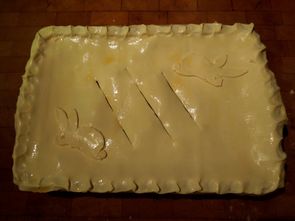 Image of the pie ready for the oven
