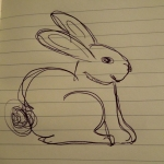 Image of bad sketch of rabbit