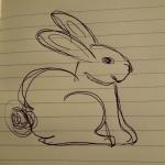 Image of bad sketch of rabbit