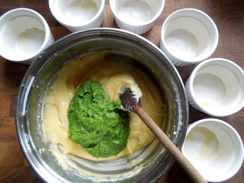 Image of asparagus puree and souffle base
