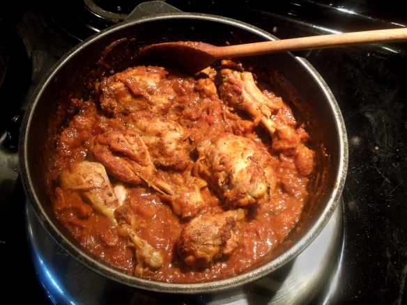 Image of Parsee chicken cooking