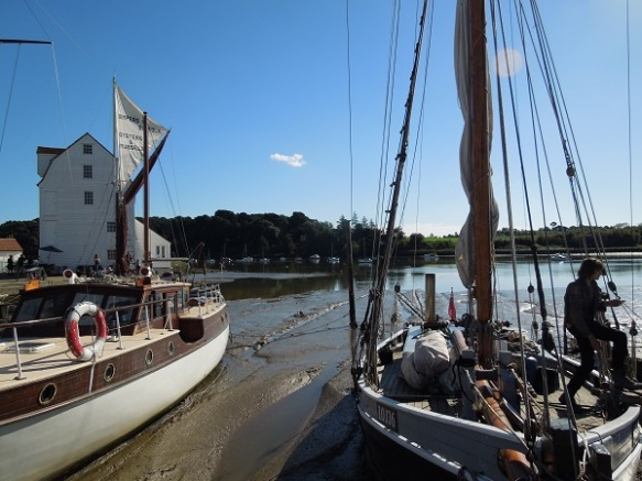 Image of tide mill and boats