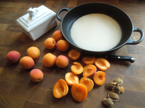 Image of ingredients for apricot and ginger tarte tatin
