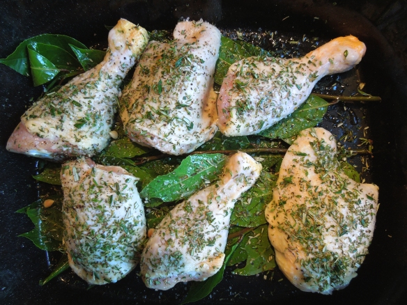 Image of chicken ready for the oven