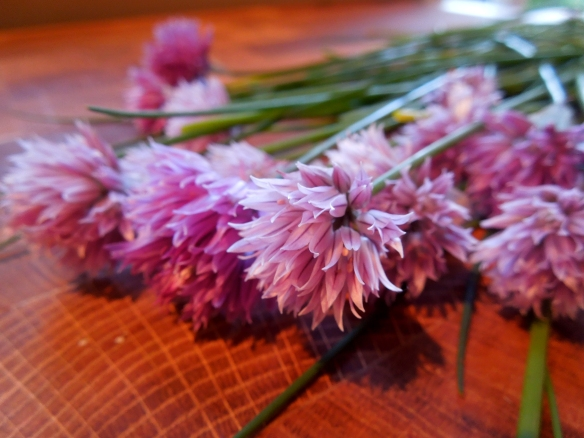 Image of chive flowers