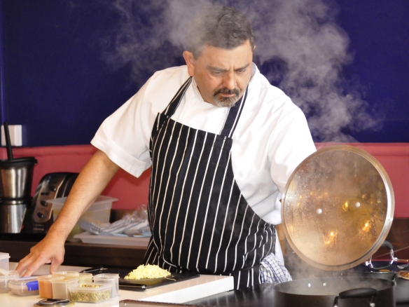 Image of Cyrus Todiwala at work