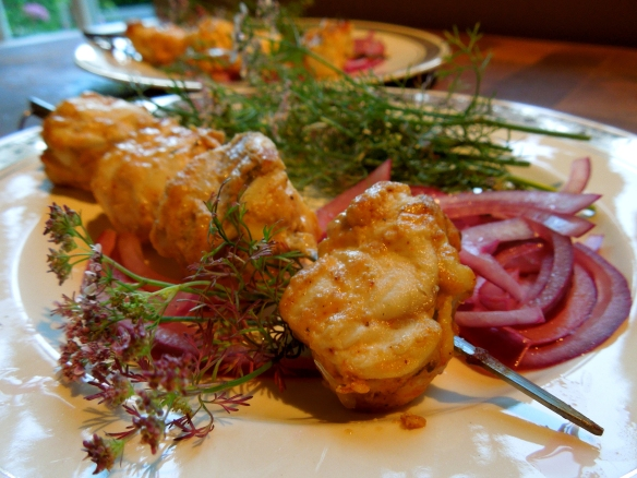 Image of monkfish tikka