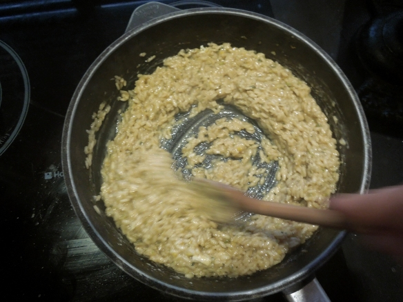 Image of risotto being stirred