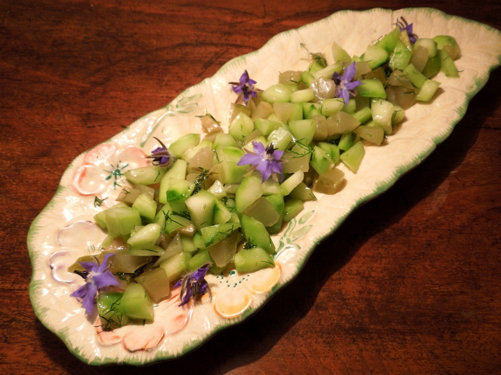 Image of double cucumber salad