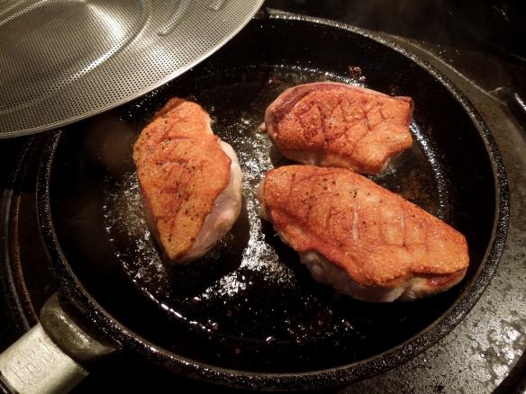 Image of duck frying