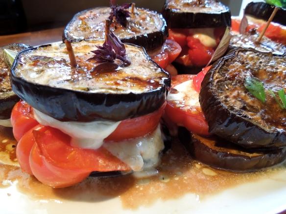 Image of aubergine caprese
