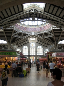 Image of central market, Valencia