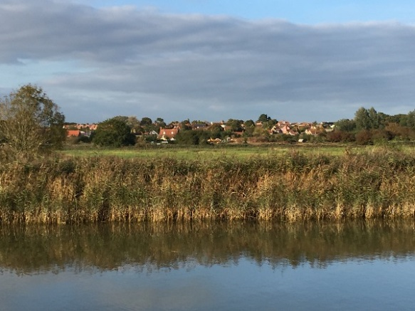 Image of Snape village from the River Alde
