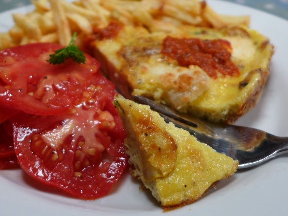Image of omelette, served