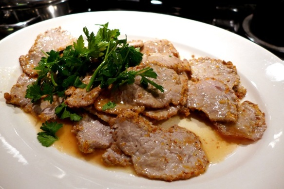 Image of pork fillet with citrus and pepper